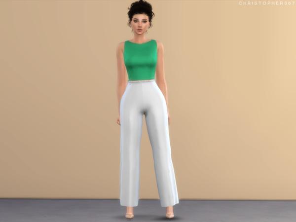 Sims 4 Palazzo Pants by Christopher067 at TSR