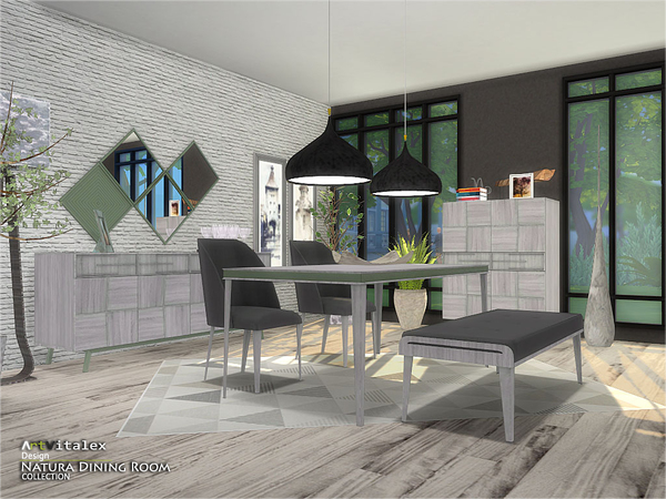 Natura Dining Room by ArtVitalex at TSR image 3410 Sims 4 Updates