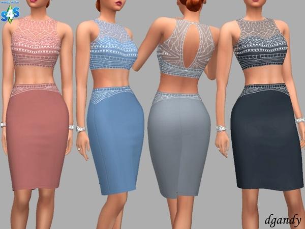 Sims 4 Hannah dress by dgandy at TSR