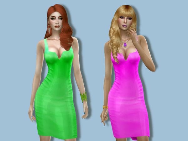 Sims 4 Vinyl dress by Simalicious at TSR