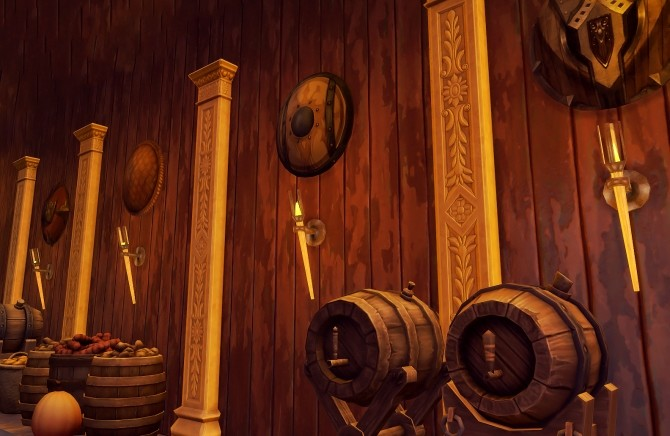 Shieldmaiden decorative shields conversion at Valhallan image 3421 670x436 Sims 4 Updates