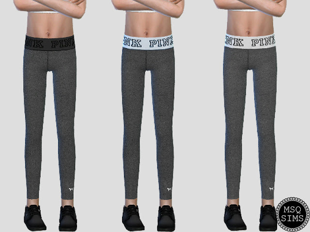 Sims 4 Yoga Leggings for kids at MSQ Sims