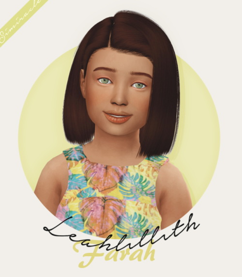 Sims 4 LeahLillith Farah Hair Kids Version at Simiracle