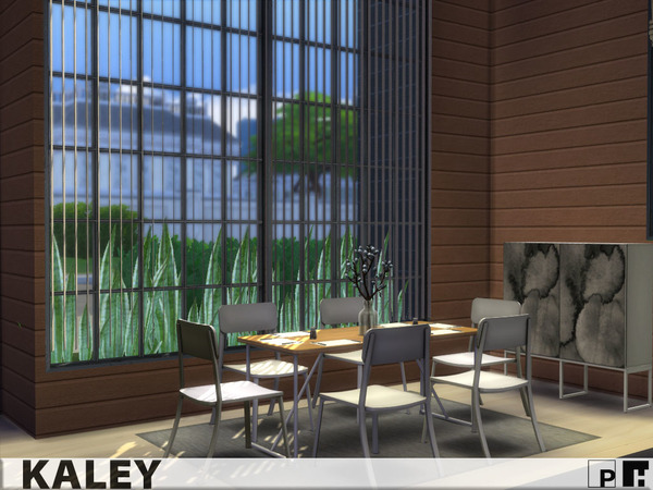 Sims 4 Kaley modern home by Pinkfizzzzz at TSR