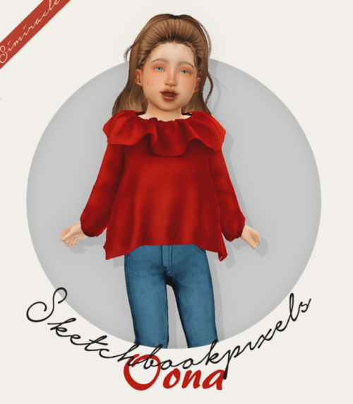 Sims 4 Sketchbookpixels Oona Hair For Toddlers 3T4 at Simiracle