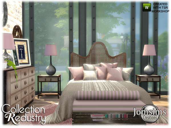 Redustry bedroom by jomsims at TSR image 3614 Sims 4 Updates