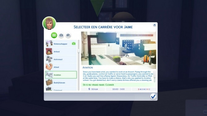 Sims 4 Aviation Career by xTheLittleCreator at Mod The Sims