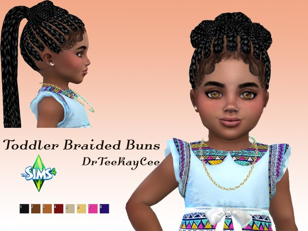 Toddler Braided Buns by drteekaycee at TSR image 362 Sims 4 Updates
