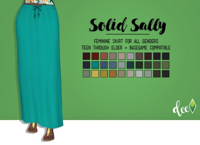 Sims 4 Solid Sally Skirt at Deetron Sims