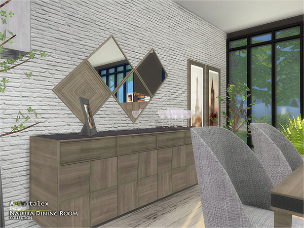 Natura Dining Room by ArtVitalex at TSR image 368 Sims 4 Updates