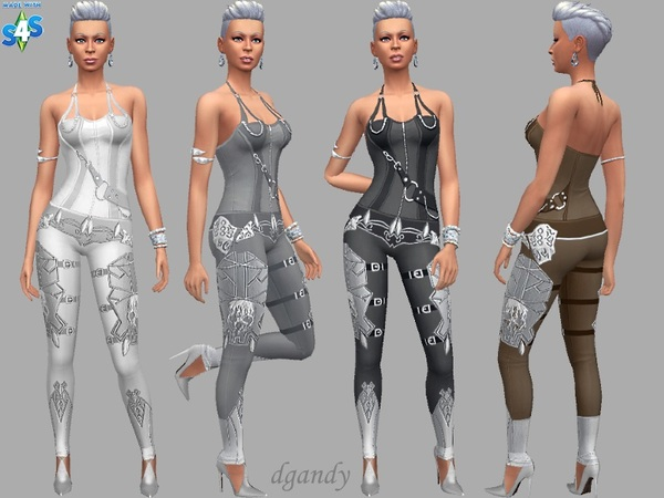Sims 4 Futuristic Jumpsuit by dgandy at TSR