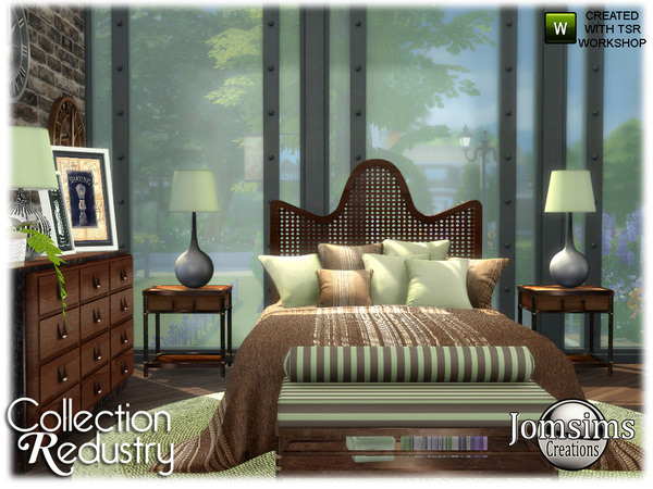 Redustry bedroom by jomsims at TSR image 3715 Sims 4 Updates