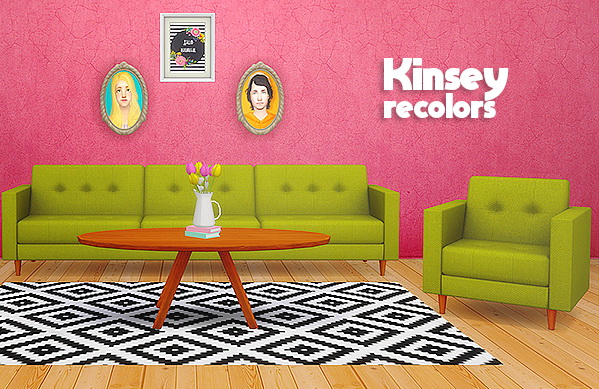 Sims 4 Peacemaker ic's Kinsey seating in 20 of anna's colors at Lina Cherie