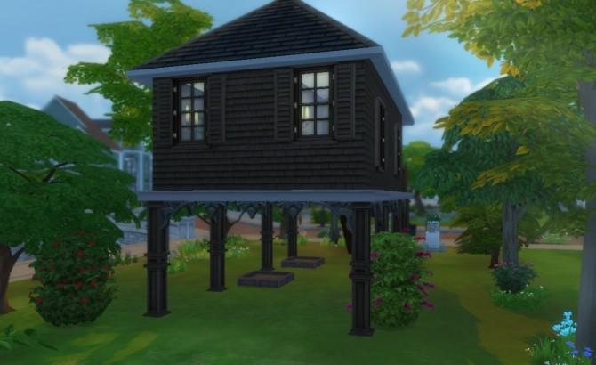 Sims 4 Dark Oak Swamp House by Mizuki Ukitake at Mod The Sims