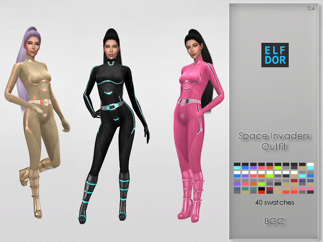 Space Invaders Outfits at Elfdor Sims image 380 Sims 4 Updates