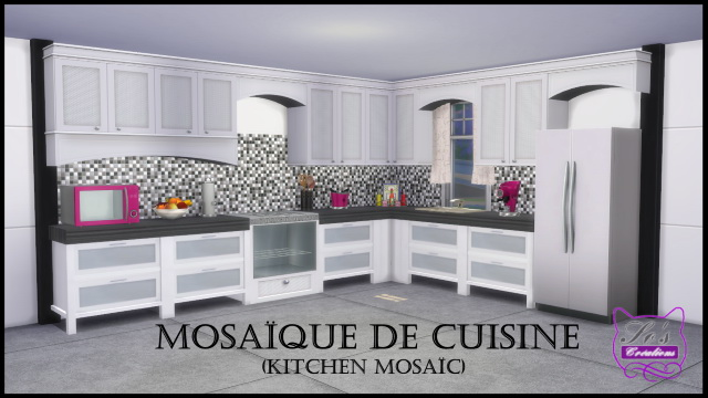 Kitchen Mosaic by Sophie Stiquet at Sims 4 Fr image 3801 Sims 4 Updates