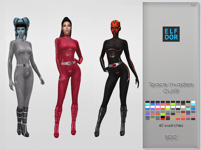 Space Invaders Outfits at Elfdor Sims image 3811 Sims 4 Updates