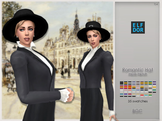Romantic Hat at Elfdor Sims image 384 Sims 4 Updates