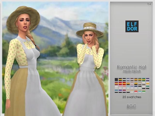Romantic Hat at Elfdor Sims image 385 Sims 4 Updates