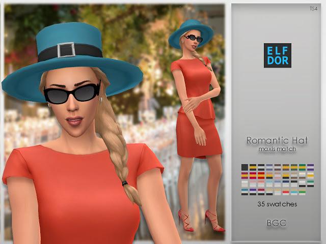 Romantic Hat at Elfdor Sims image 386 Sims 4 Updates