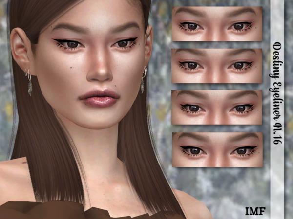 IMF Destiny Eyeliner N.16 by IzzieMcFire at TSR image 387 Sims 4 Updates