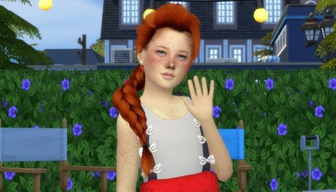 Sims 4 LEAH LILLITH ELSA HAIR KIDS AND TODDLER VERSION at REDHEADSIMS