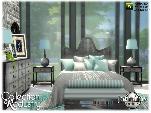 Redustry bedroom by jomsims at TSR image 397 Sims 4 Updates