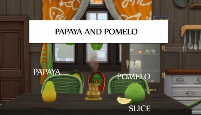 Harvestable Papaya & Pomelo by icemunmun at Mod The Sims image 399 670x384 Sims 4 Updates
