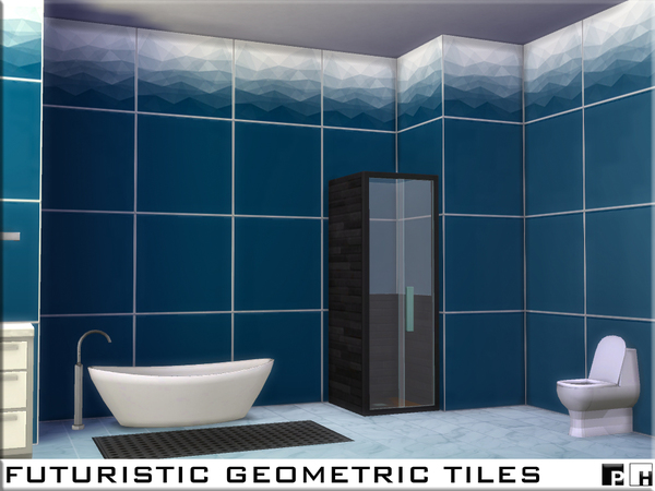 Sims 4 Futuristic Geometric Tiles by Pinkfizzzzz at TSR