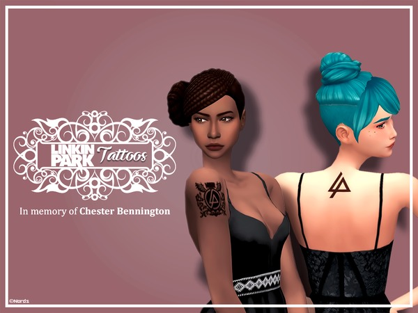 Linkin Park Tattoos by Nords at TSR image 4012 Sims 4 Updates