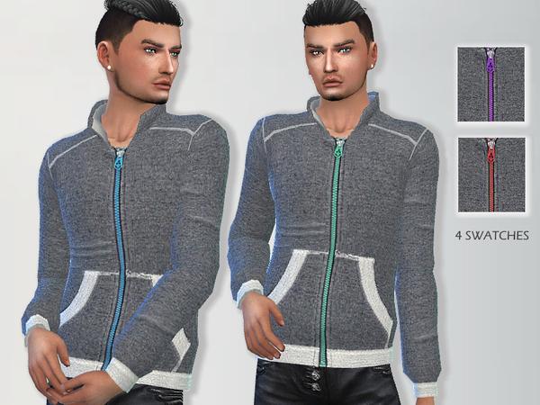 Athletic Sweatshirt by Puresim at TSR image 404 Sims 4 Updates