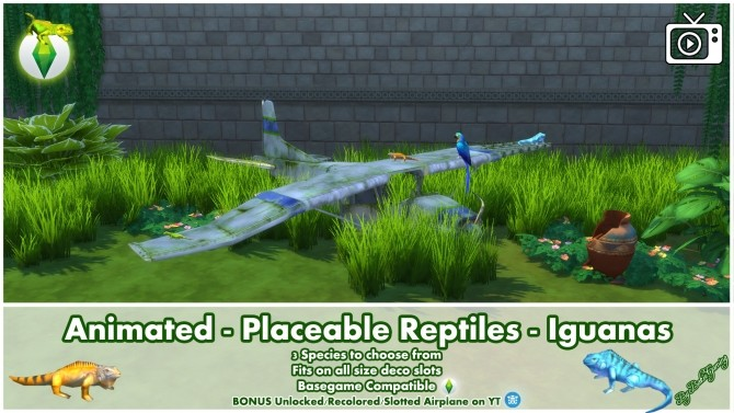 Animated Placeable Reptiles Iguanas by Bakie at Mod The Sims image 405 670x377 Sims 4 Updates