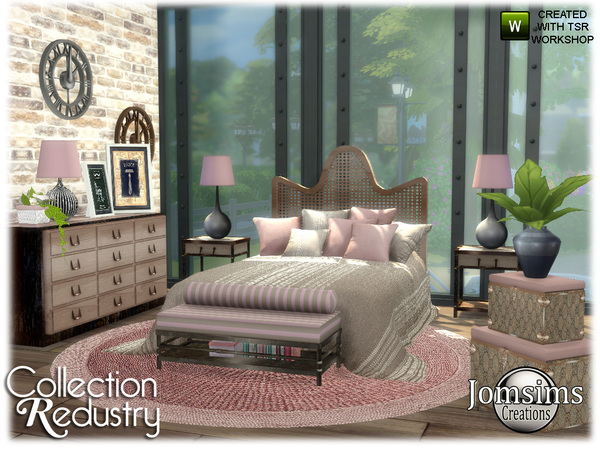 Redustry bedroom by jomsims at TSR image 4110 Sims 4 Updates