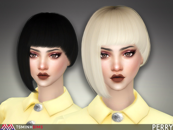 Perry Hair 58 by TsminhSims at TSR image 415 Sims 4 Updates