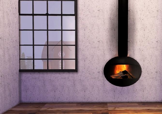 Sims 4 Wall Fireplace at Ooh la la