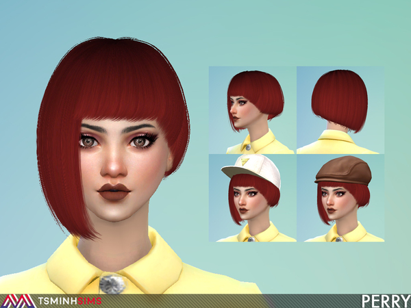Perry Hair 58 by TsminhSims at TSR image 423 Sims 4 Updates