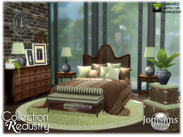 Redustry bedroom by jomsims at TSR image 426 Sims 4 Updates
