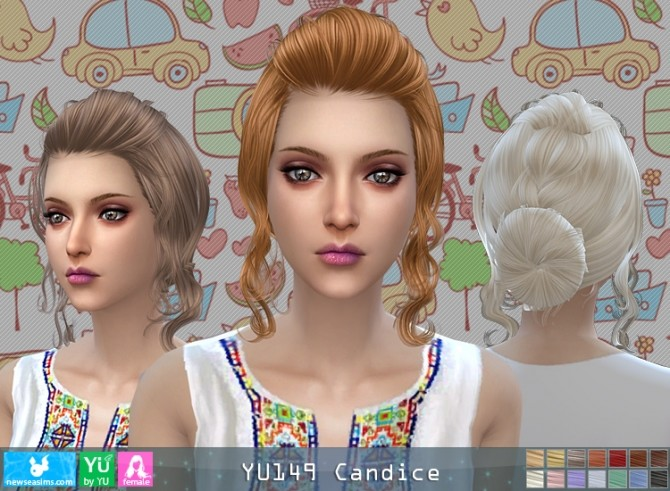 YU149 Candice hair (P) at Newsea Sims 4 image 4317 670x491 Sims 4 Updates