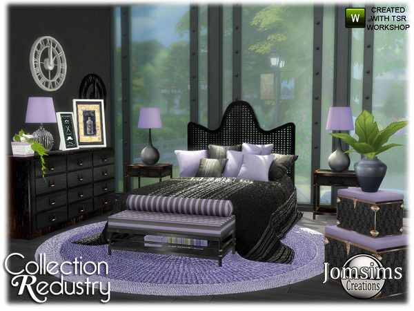 Redustry bedroom by jomsims at TSR image 436 Sims 4 Updates