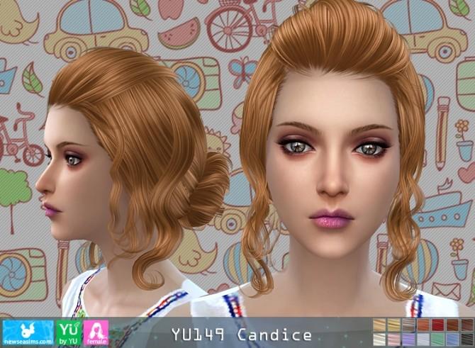 Sims 4 YU149 Candice hair (P) at Newsea Sims 4
