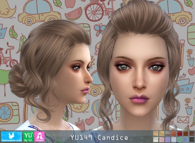 YU149 Candice hair (P) at Newsea Sims 4 image 4517 670x491 Sims 4 Updates