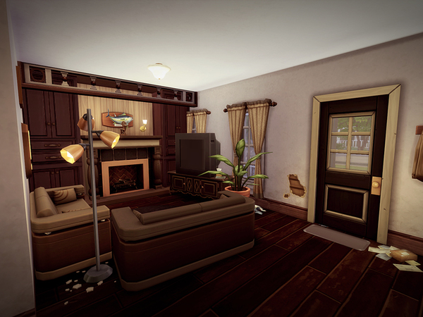 Sims 4 Lowdrive house NO CC by melcastro91 at TSR