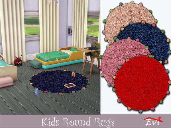 Sims 4 Kids round rugs by evi at TSR