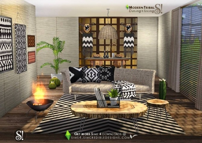Modern Tribal Dining at SIMcredible! Designs 4 image 4810 670x474 Sims 4 Updates