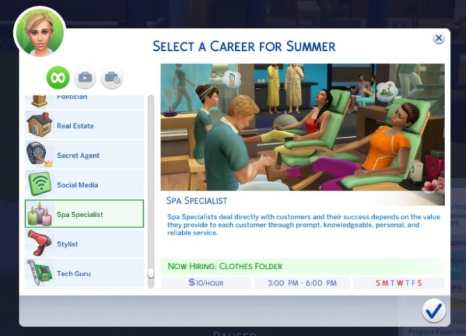 Sims 4 Part time Spa Career (Sims 3 Remake) by Sims Lover at Mod The Sims