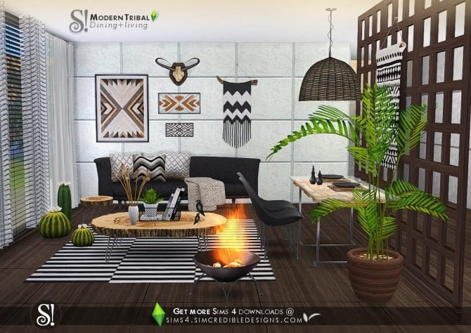 Modern Tribal Dining at SIMcredible! Designs 4 image 4911 670x474 Sims 4 Updates