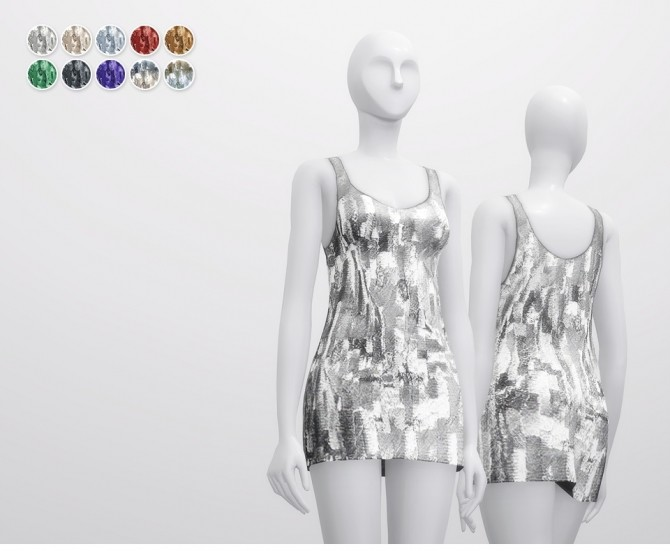 Sequined Silk Georgette Mini Dress at Rusty Nail image 4915 670x551 Sims 4 Updates