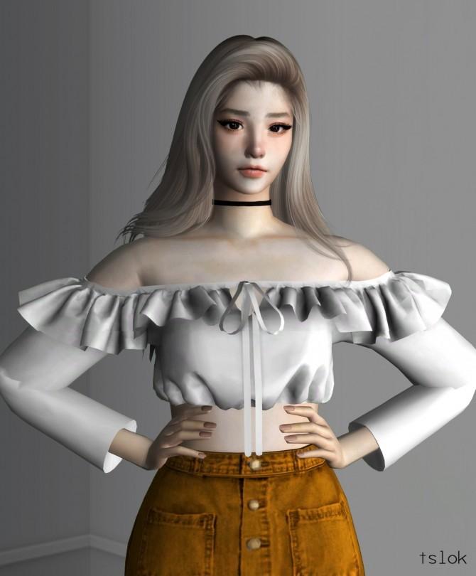 Melli frilly off shoulder top at TSLOK image 4916 670x810 Sims 4 Updates
