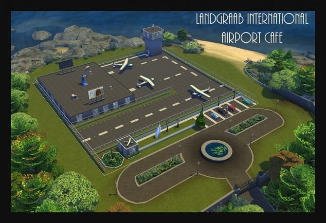 Landgraab International Airport Cafe Lot NO CC by Simmiller at Mod The Sims image 505 670x458 Sims 4 Updates