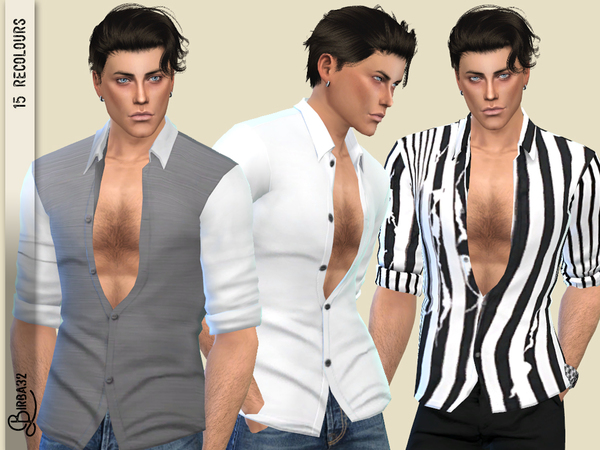 Alex shirts by Birba32 at TSR image 506 Sims 4 Updates